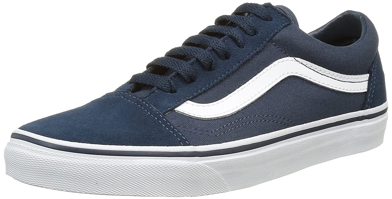 Vans Unisex Old Skool Classic Skate Shoes B01DYSAW4I 7.5 M US Women / 6 M US Men|Suede Canvas/Teal-true White