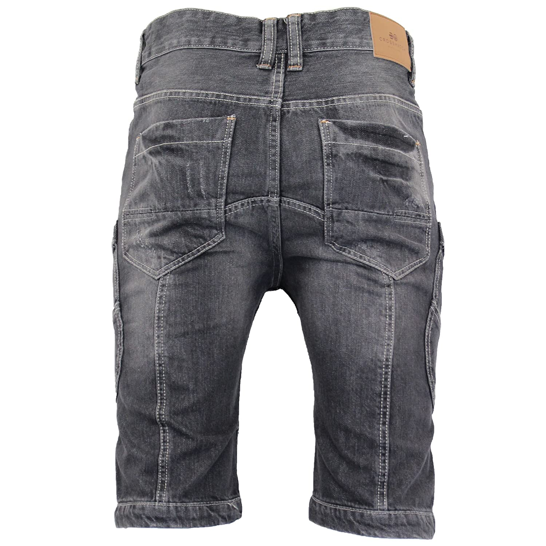 291115dc CS New Mens Crosshatch Denim Jean Shorts Knee Length 3/4 Cargo Combat Pants  Cotton: Amazon.co.uk: Clothing