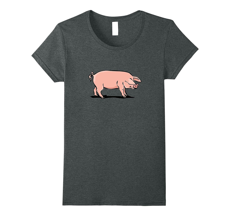 Cute Pig Hog Pork T-Shirt Hunter Bacon Ham Lover BBQ Hunting