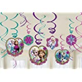 Disney Frozen Party Hanging Swirl Decorations x 12