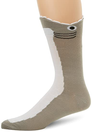 6c44e9a7dd19 Image Unavailable. Image not available for. Color: K. Bell Men's Wide Mouth  Shark Socks