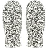 Dachstein Woolwear 4 Ply Extreme Warm 100% Austrian Boiled Wool Alpine Mittens in Natural Grey