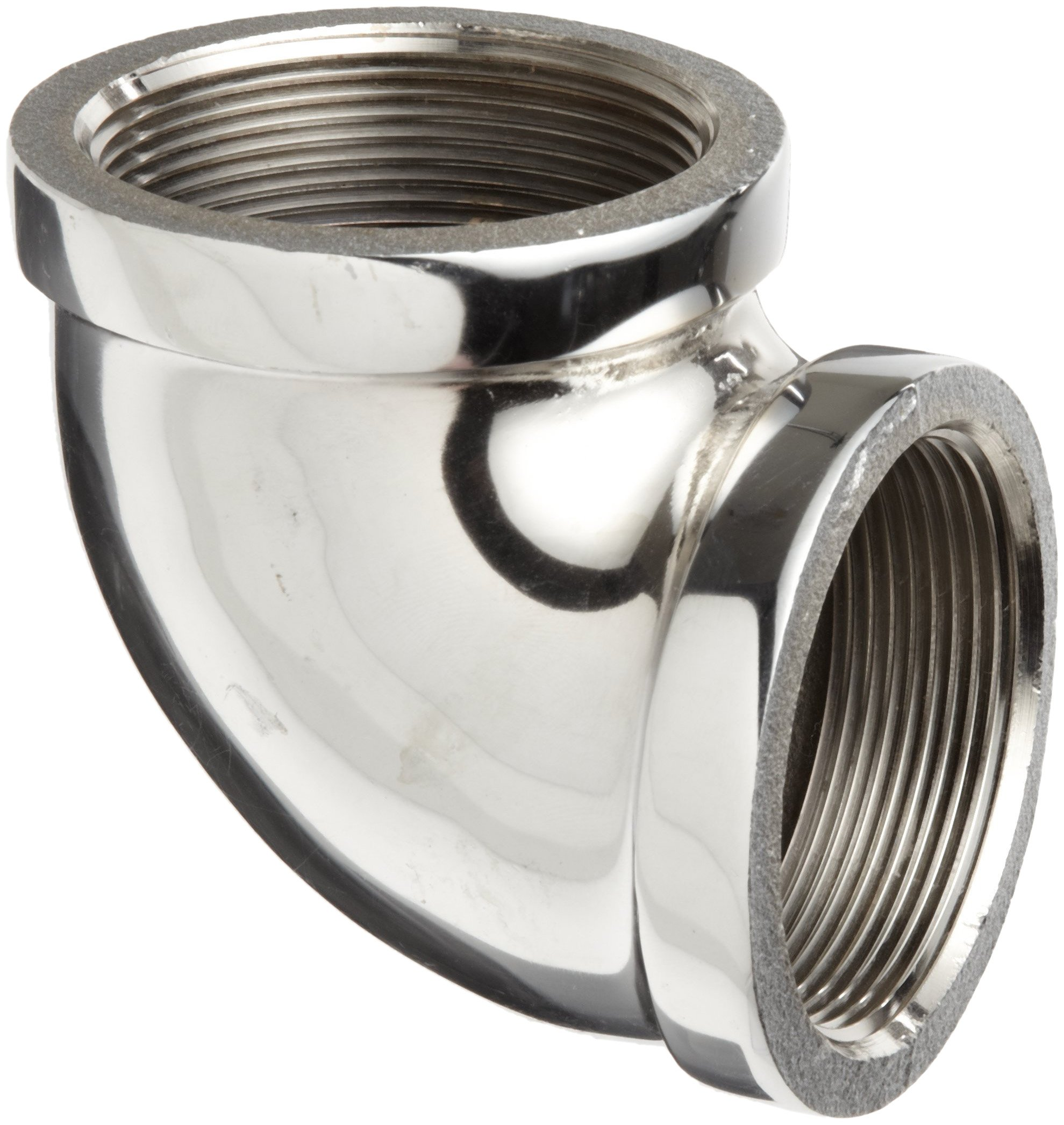 Chrome Plated Brass Pipe Fitting, 90 Degree Elbow, 1/2'' NPT Female
