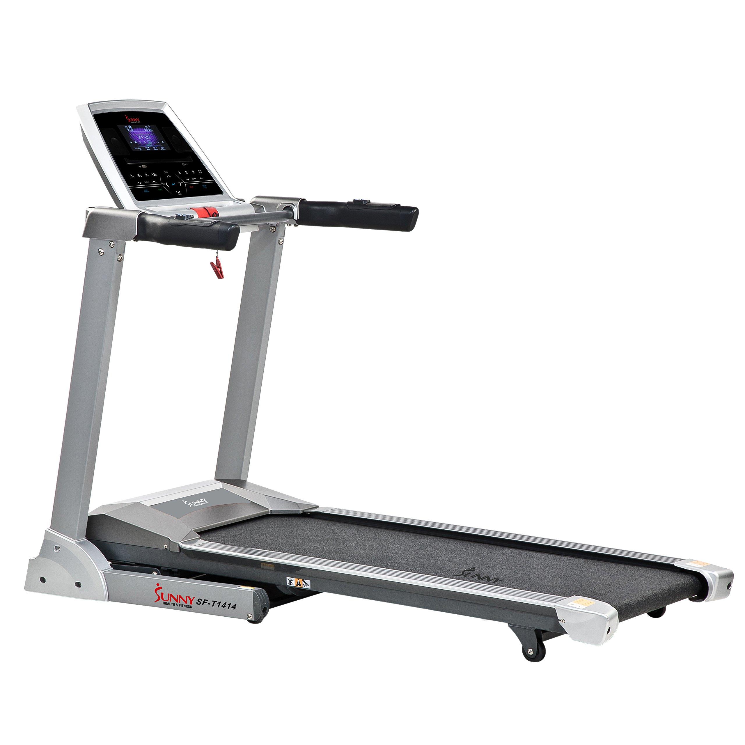 Sunny Health & Fitness SF-T1414 Treadmill, Gray