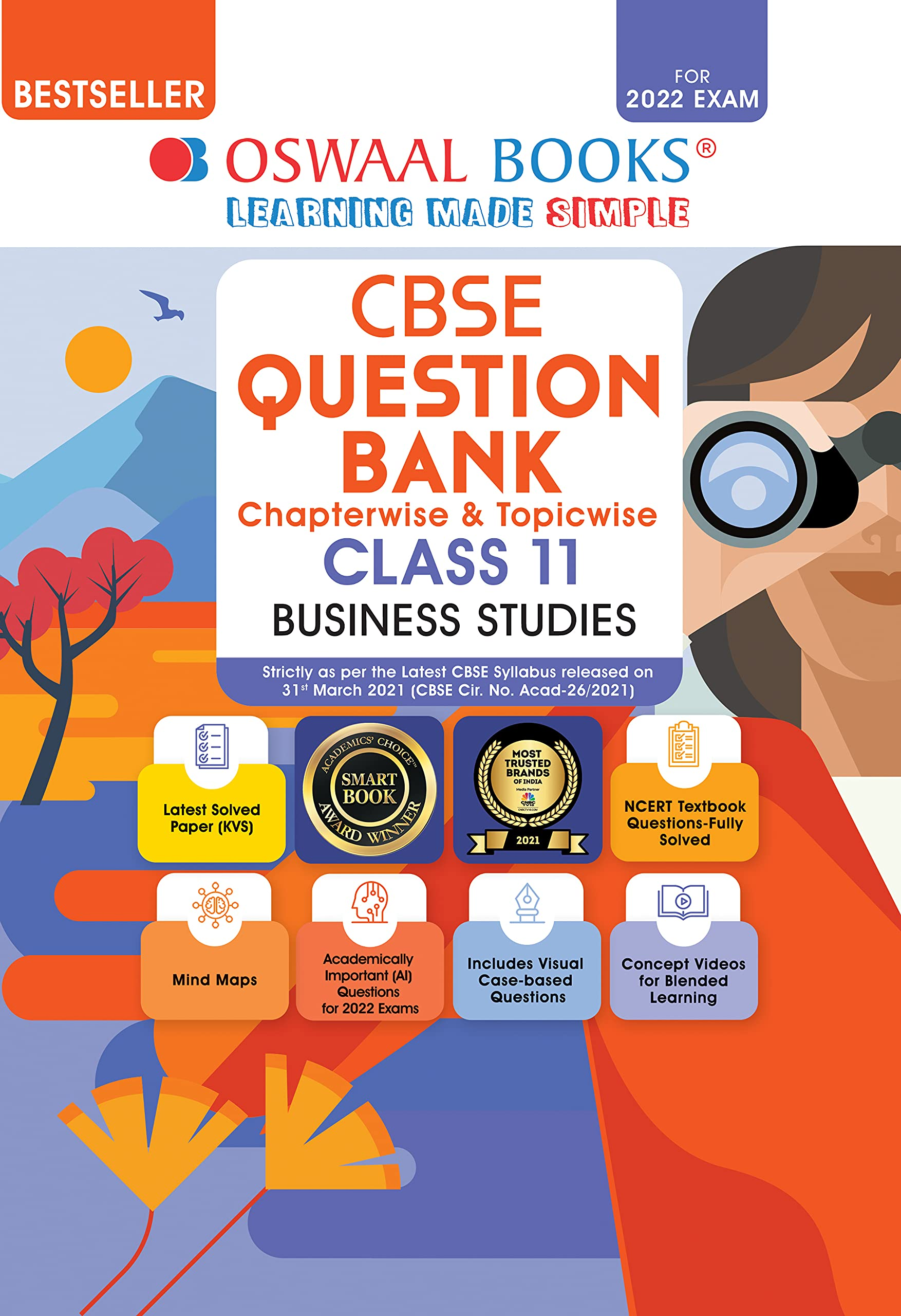 Oswaal CBSE Question Bank Class 11 Business Studies Book Chapterwise & Topicwise Includes Objective Types & MCQ's (For 2022 Exam)