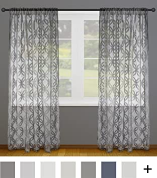 DII Sheer Lace Decorative Window Treatments For Bedroom Living Room Small Windows Curtain