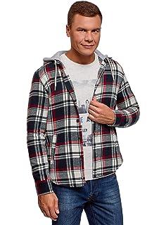 Hooded Chemise Checked Sleeve Sweat De Flanell Urban Classics Shirt vwxSqHSz6