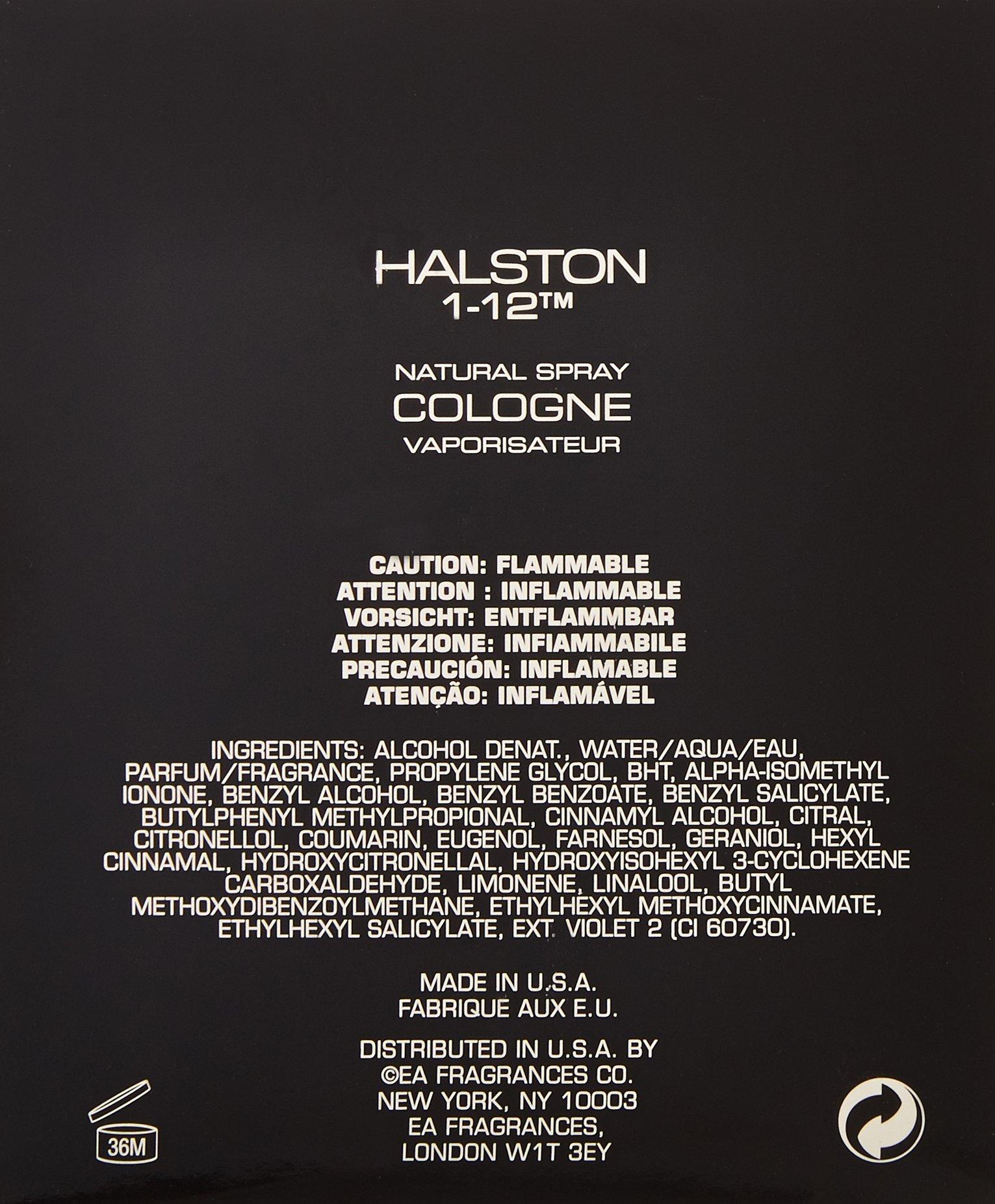 Halston 1-12 by Halston for Men 4.2 oz Cologne Spray by Halston (Image #2)