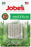 Jobe's Fern & Palm Fertilizer Spikes, 16-2-6 Time Release Fertilizer for Indoor Palm Plants, 30 Spikes per Package