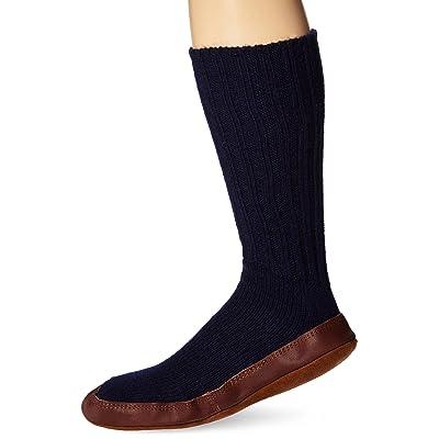 Easy Spirit Unisex Slipper Sock, Cobalt Ragg Wool, 12-13 | Slippers