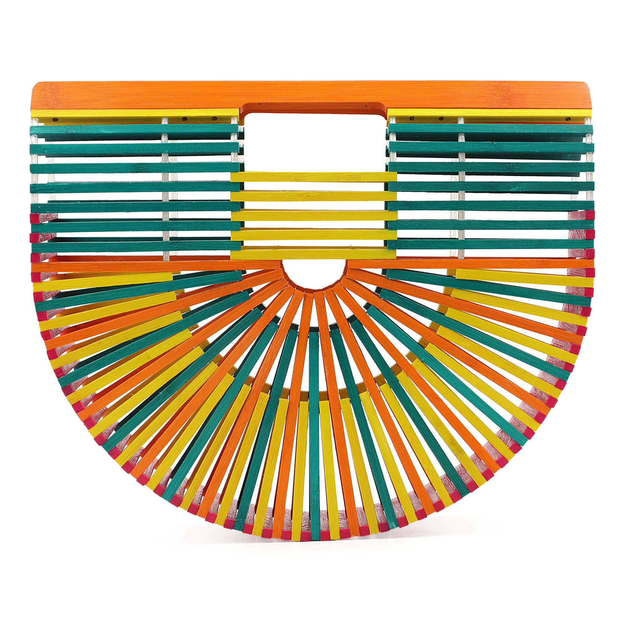 Bamboo Handbag (Small, Multi-Color)