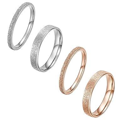 Amazon.com: alextina de mujer 4 piezas de acero inoxidable ...
