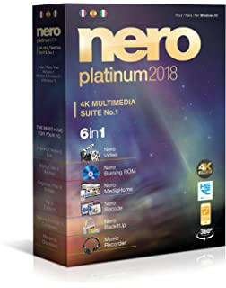 Nero Platinum 2018 - Software De Edición Y Gestión De Vídeo, 6in1, Para Windows