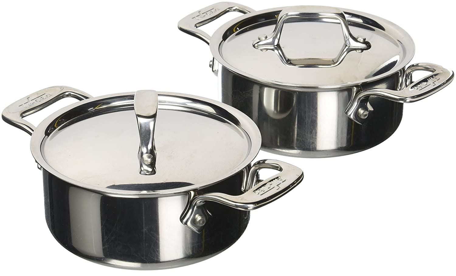 All-Clad E849A264 Stainless Steel Cocottes, 0.5-Quart, 2-Piece, Silver Groupe SEB 2100079404