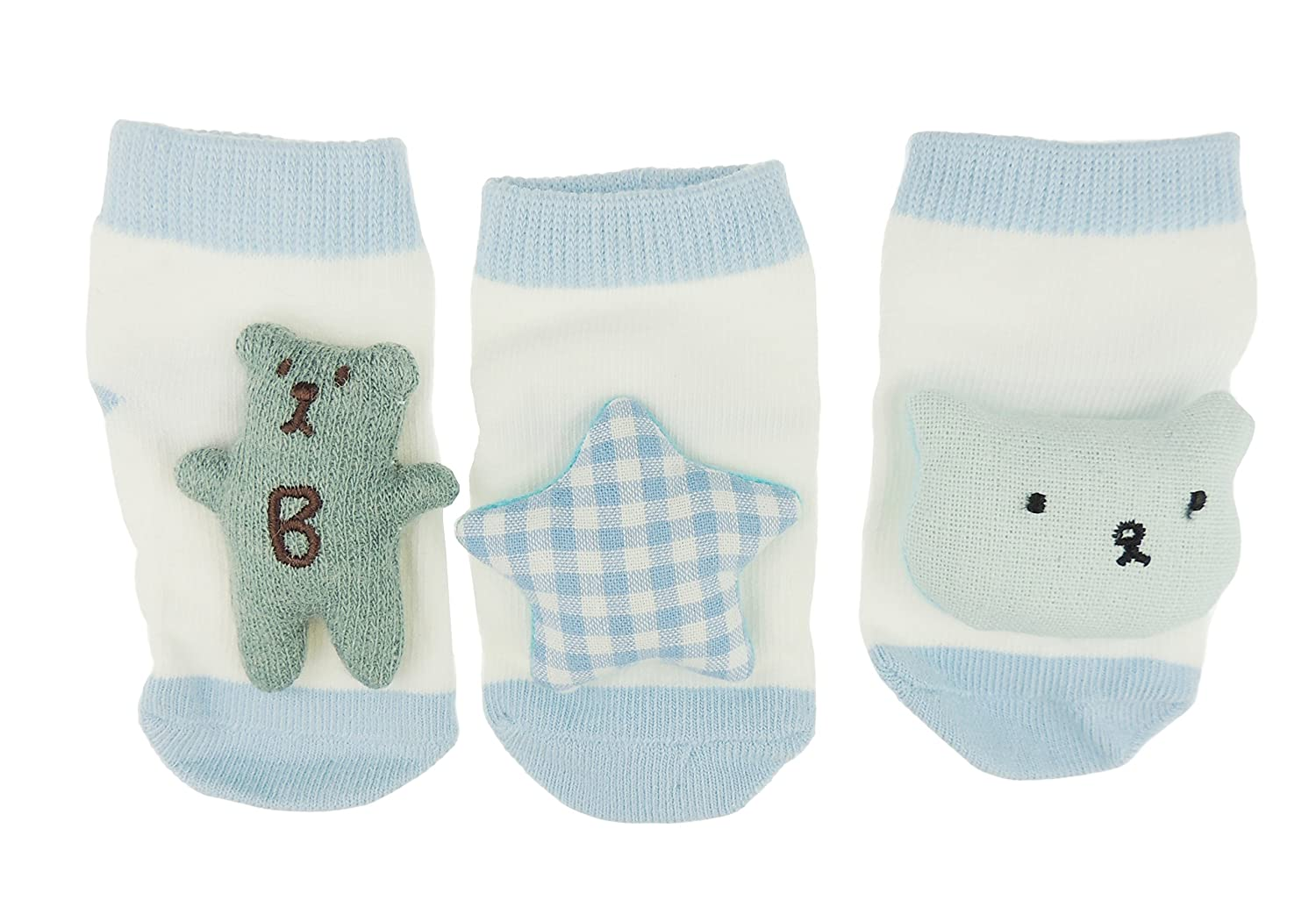 3D Teddy Comforter /& Knitted Sock Boots Gift Set Personalised White Baby Shawl Blanket