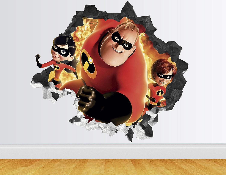 Toy Story Wall Decal Custom Name 3D Kids Sticker Decor Vinyl Smashed Boy Girls
