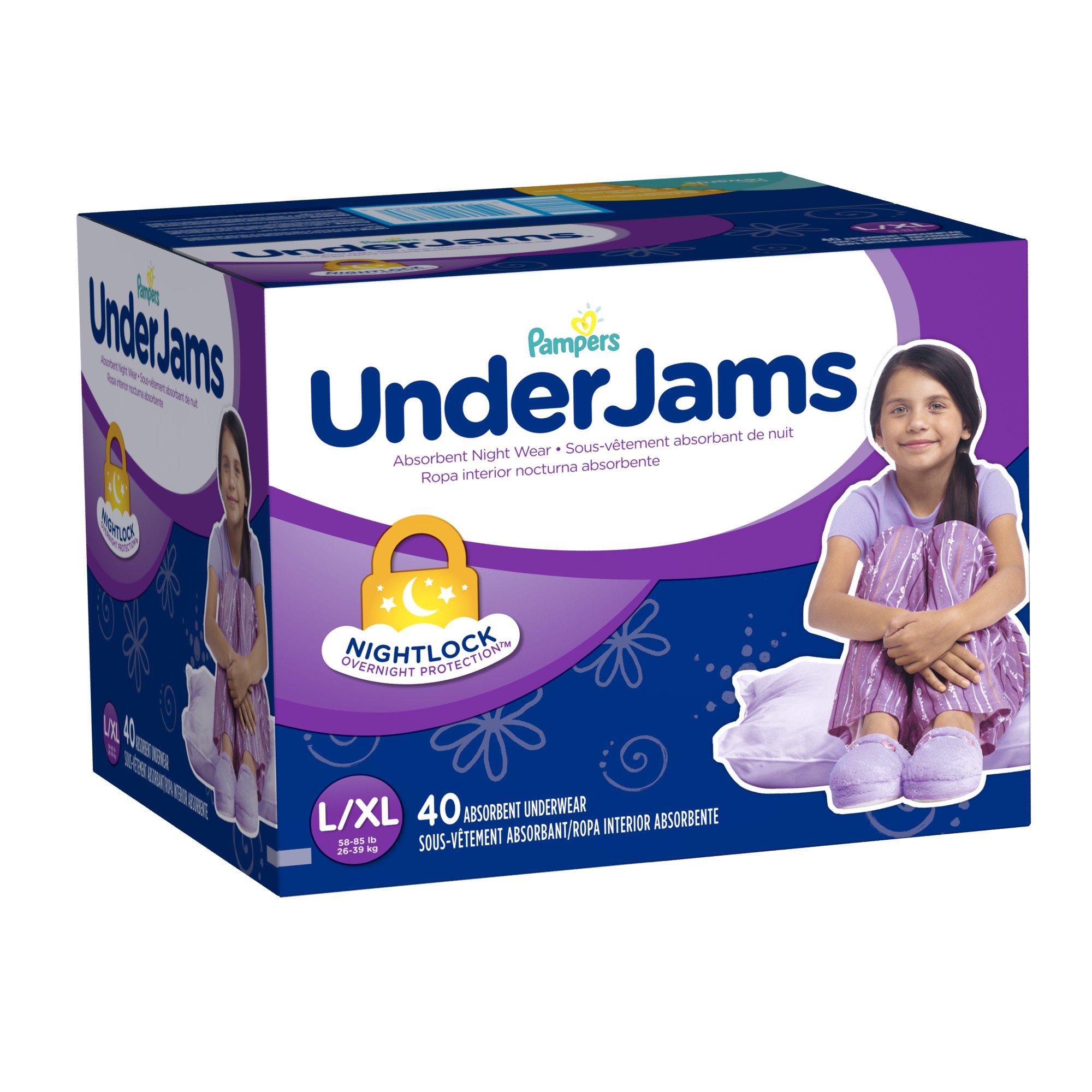 Pampers Underjams Absorbent Nightwear, 40 Count