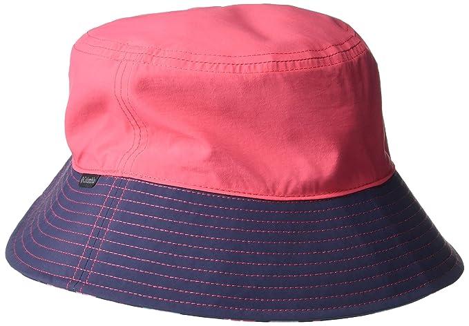 37215fd3 Columbia Kids & Baby Pixel Grabber Bucket Hat, Bright Geranium, Nocturnal,  Small/