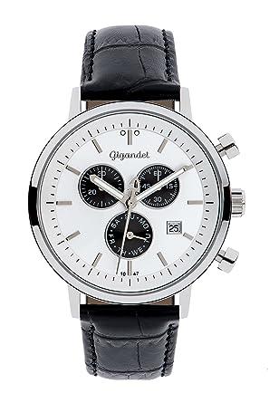 Herren Gigandet Schwarz Chronograph Lederarmband Quarz 002 Classico Analog Armbanduhr G6 SqzVUMp
