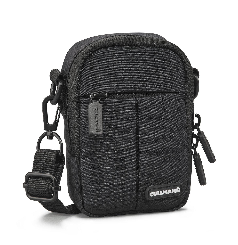 Cullmann 90220 MALAGAコンパクト300ブラックカメラケースバッグ、PUコーティングキャリーストラップ、スナップフック付きフロントバッグインナーポケットベルトループ B079LQWS9H
