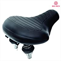 BIG-BEN Synthetic Leather Saddle with Soft Cushion for Mountain Bike, Road Bicycle, Hibrid and Stationary Exercise Bike
