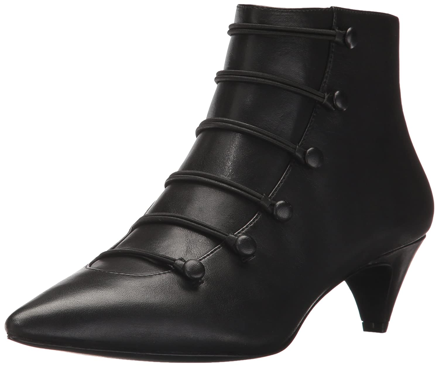Nine West Women's Zadan Leather Ankle Boot B0711NKXSY 11 B(M) US|Black
