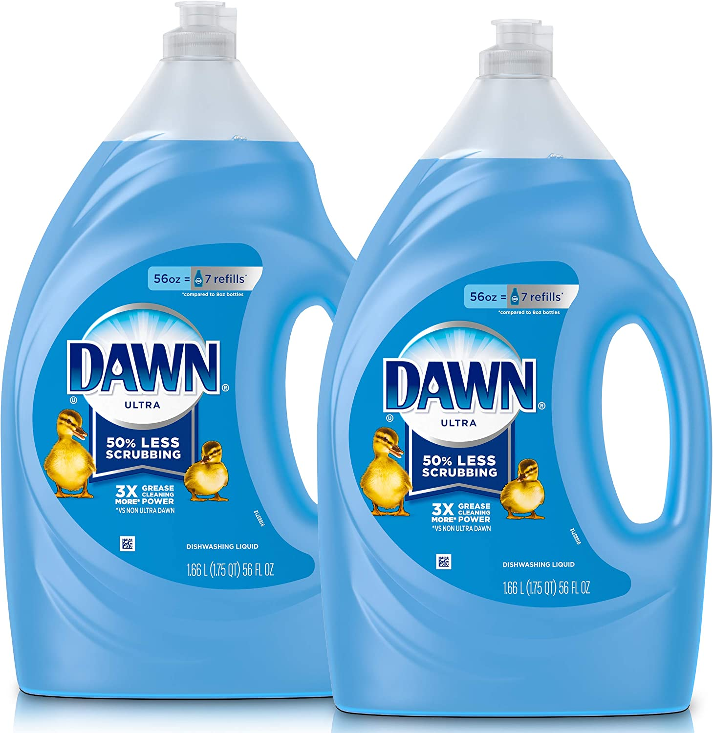 Dawn Ultra Dishwashing Liquid Dish Soap, Original Scent, Refill Size, 2 Count, 56 Oz.(Packaging May Vary): Health & Personal Care