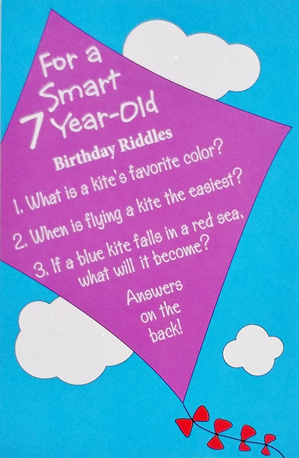 Amazon.com : For a Smart 7 Year Old Birthday Riddles Greeting Card ...