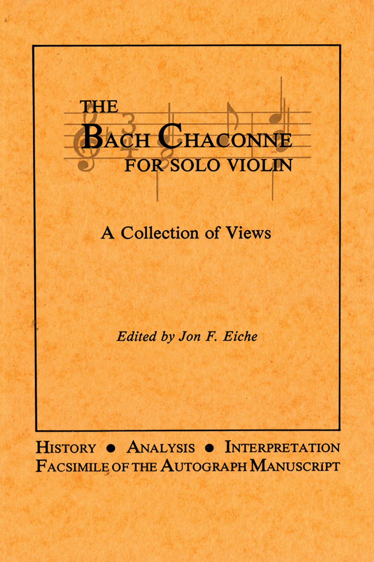 Read Online The Bach Chaconne for Solo Violin ebook