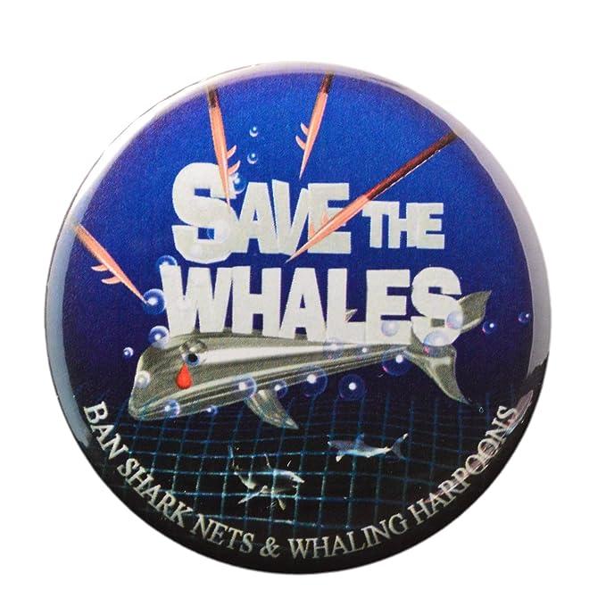 Amazon.com: Ayudar a salvar las ballenas Llavero + Imán + ...