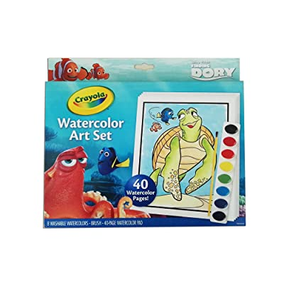 Crayola Finding Dory Watercolor Art Set: Toys & Games