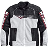 Harley-Davidson Mens Wind Cave Mesh with Coolcore Technology White Functional Jacket (Large)