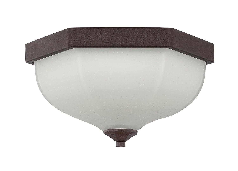 Luminance F13090-45 Contemporary 2 Incandescent Flush Mount Light with Blackened Bronze Finish