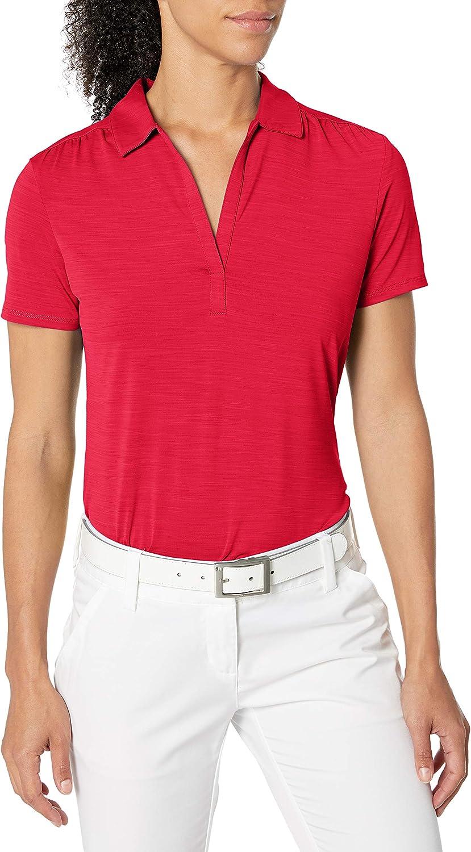 Callaway Women's Short Sleeve Tonal Stripe Polo Shirt