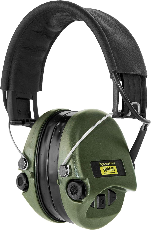 Coques doreilles Vertes SOR75302-X Protection Auditive Sordin Supreme Pro X Casques Antibruit /Électroniques /à Forte Att/énuation