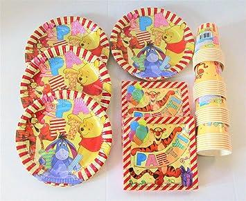 Disney Winnie The pooh Tableware for 32 Plates Cups Napkins  sc 1 st  Amazon UK & Disney Winnie The pooh Tableware for 32 Plates Cups Napkins ...