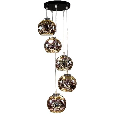 Napa 3d de 5 Efecto lámpara colgante contemporánea - Lámpara ...