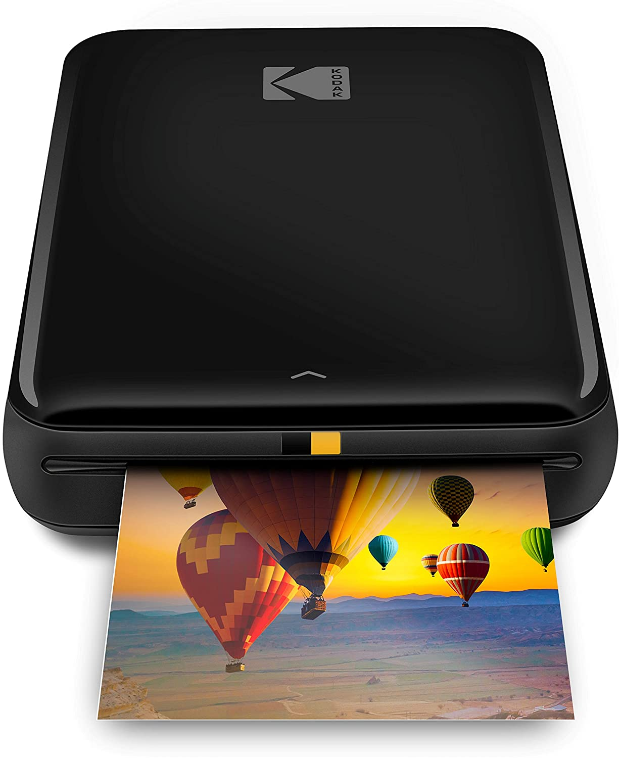 Zink Kodak Step Printer | ZINK Zero Ink Technology Wireless Mobile Photo Printer for Any Bluetooth or NFC Smart Device (Black) Sticker Edition, 2x3 (RODMP20KIT9B)