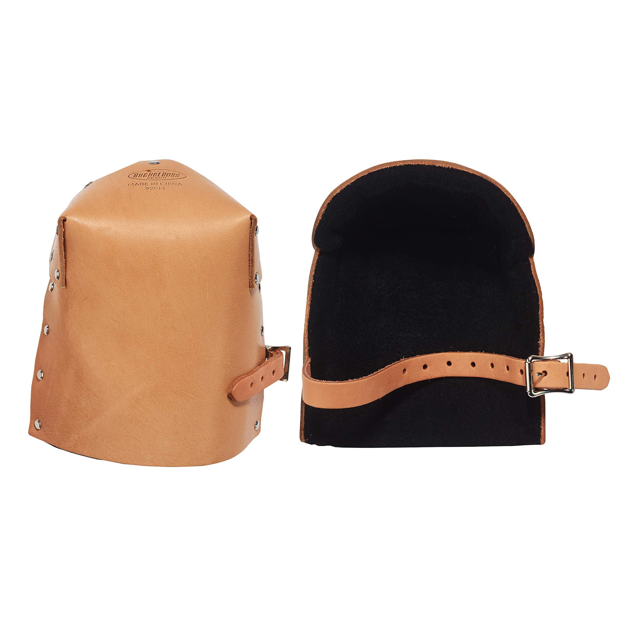 Bucket Boss Pro Leather Knee Pads in Tan, 92013