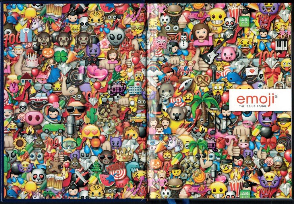 Diario Agenda Escolar Emoji emotion- 12 meses - azul: Amazon ...