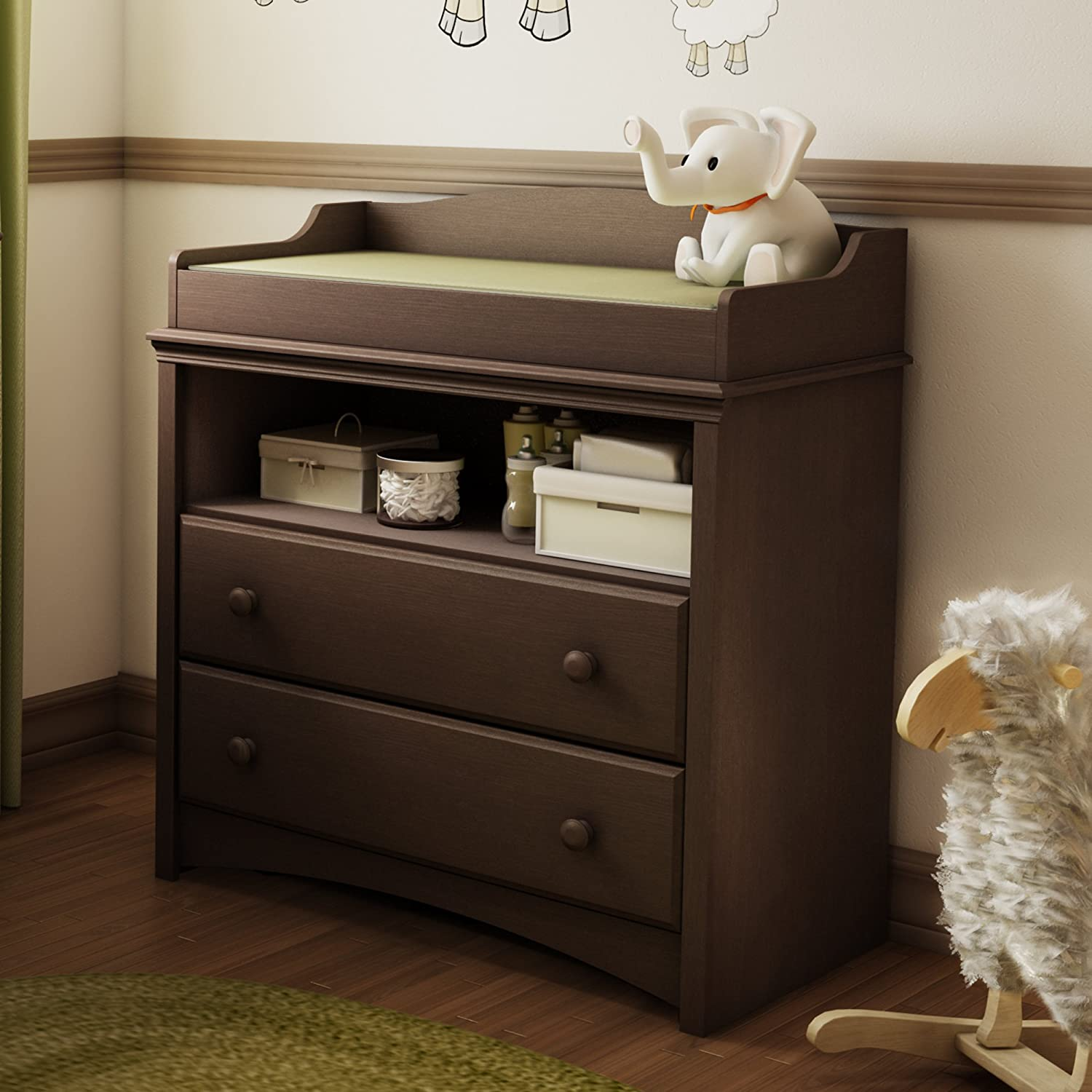 Amazon.com : South Shore Angel Changing Table, Espresso : Changing Dresser  : Kitchen U0026 Dining