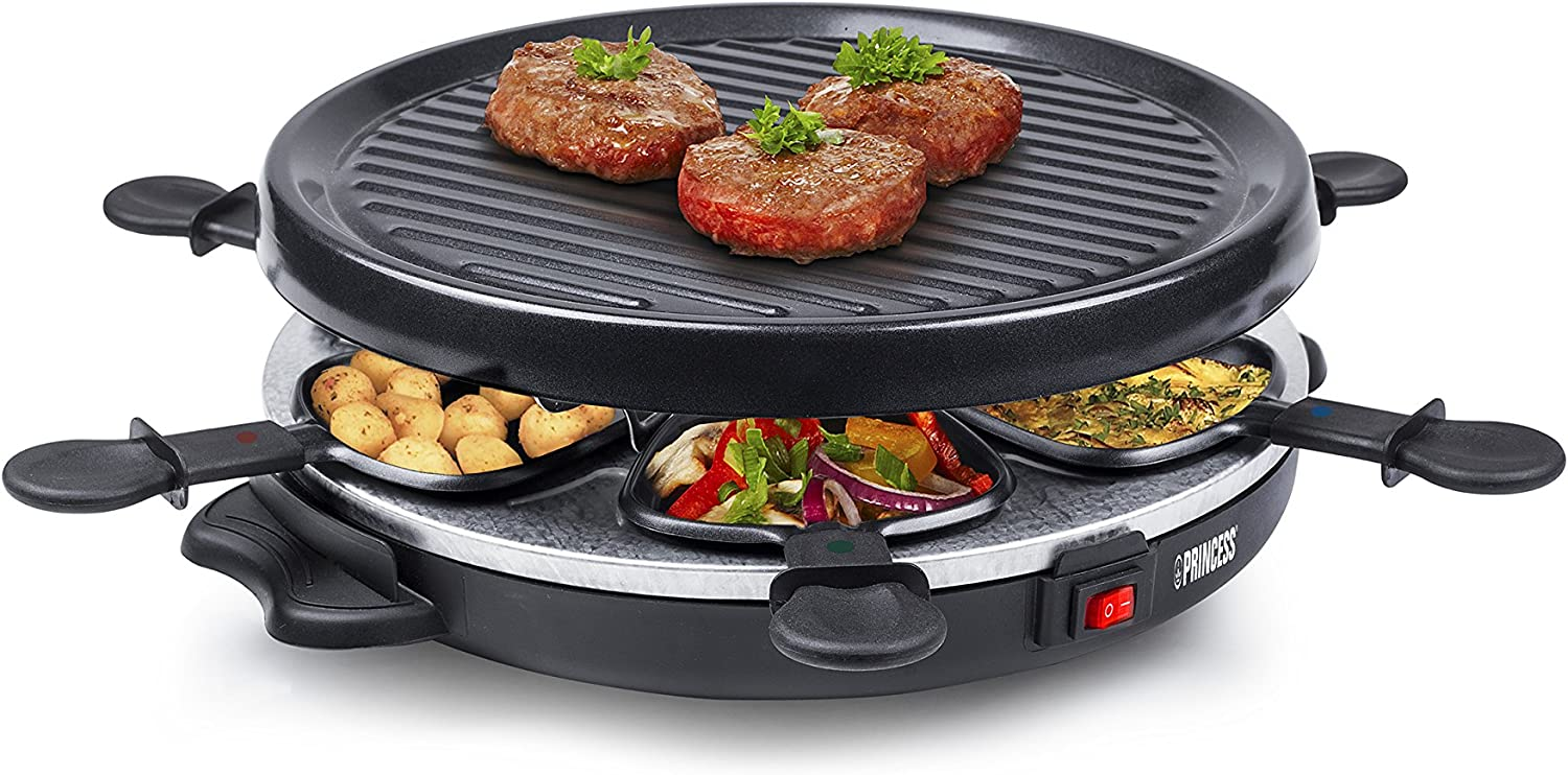 Princess 162725 Grill Party Raclette para 6 personas