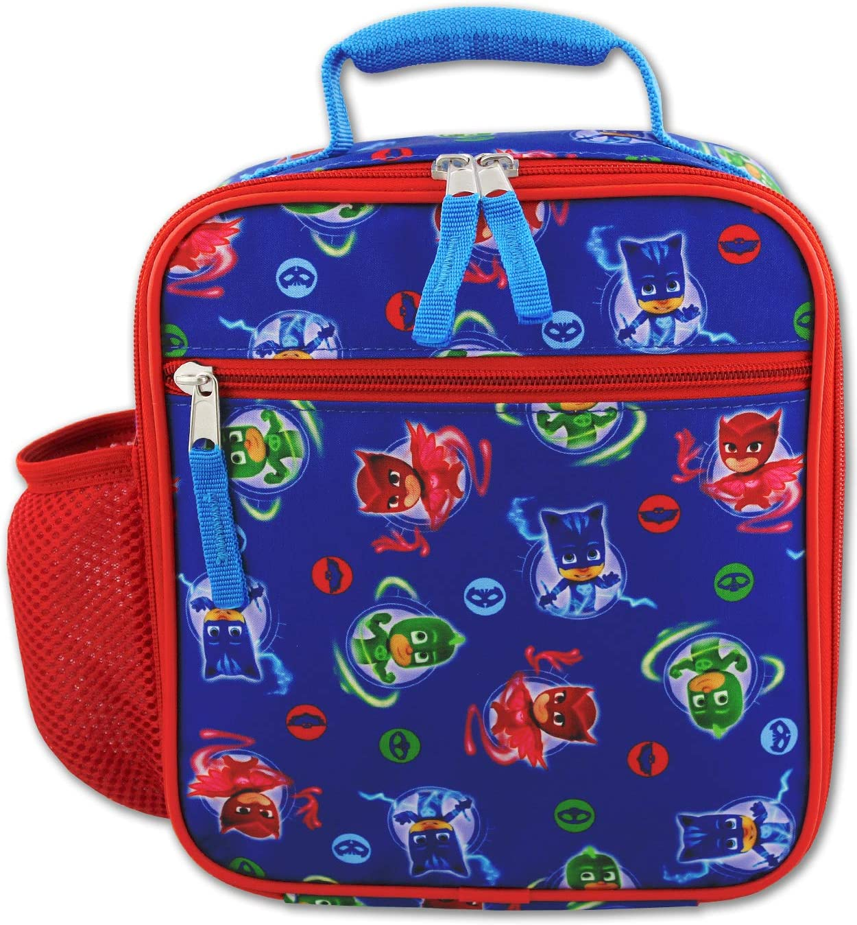 PJ Masks Boys Girls Soft Insulated School Lunch Box (One Size, Blue/Red)