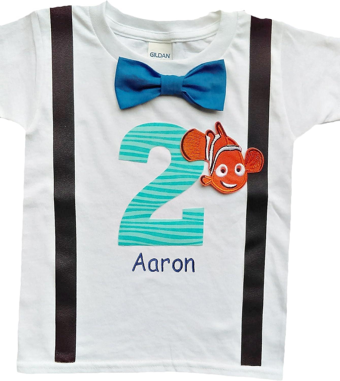 Baby Boys 2nd Birthday Nemo Bodysuit Personalized