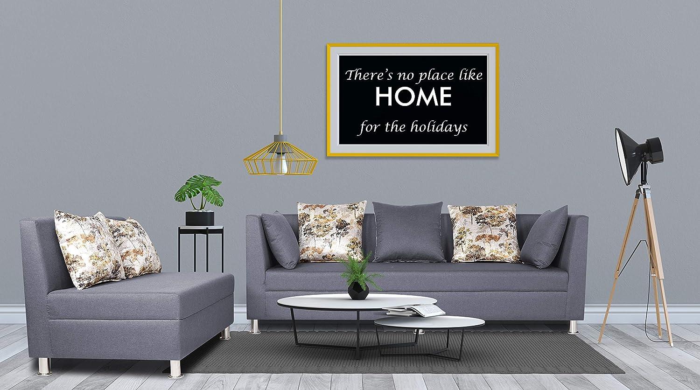 Adorn India Alica Modular Sofa Set(Dark Grey)