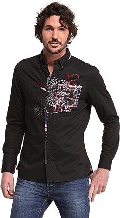 Desigual GRAFITERA Camisa, Negro 2000, S para Hombre: Amazon.es: Ropa y accesorios
