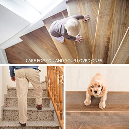 MBIGM Anti Slip Stair Treads Clear Tape The Elderly and Pets 4 Inches x 33 Feet Non Slip Safe Strips for Kids