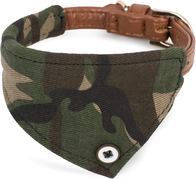 Puccybell HB007 - Collar de camuflaje para perros pequeños y medianos