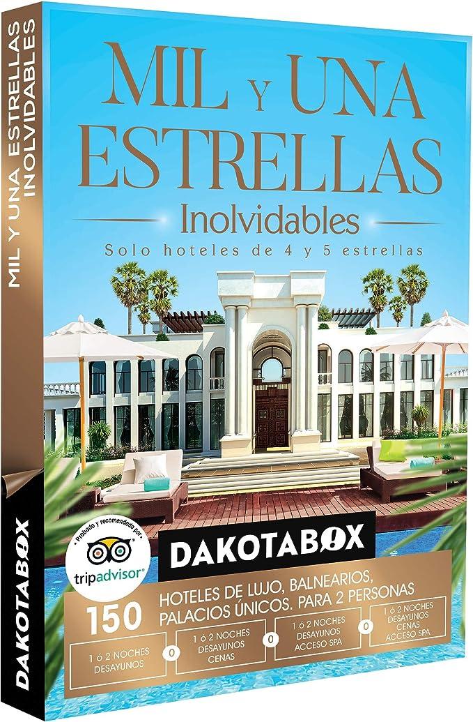 DAKOTABOX - Caja Regalo - MIL Y UNA ESTRELLAS INOLVIDABLES - 150 hoteles de lujo, palacios y balnearios en España, Andorra, Portugal, Francia e Italia: Amazon.es: Deportes y aire libre