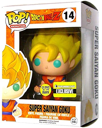 c5d09b82e04 Buy Dragon Ball Z Glow-in-The-Dark Super Saiyan Goku Pop! Vinyl Figure - Entertainment  Earth Exclusive Online at Low Prices in India - Amazon.in